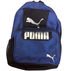 Puma Navy Blue and Black Backpack Lunch bag Combo